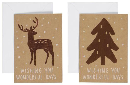 20 cartes de Noël 13.5x9.5 - 25340009 - HEMA