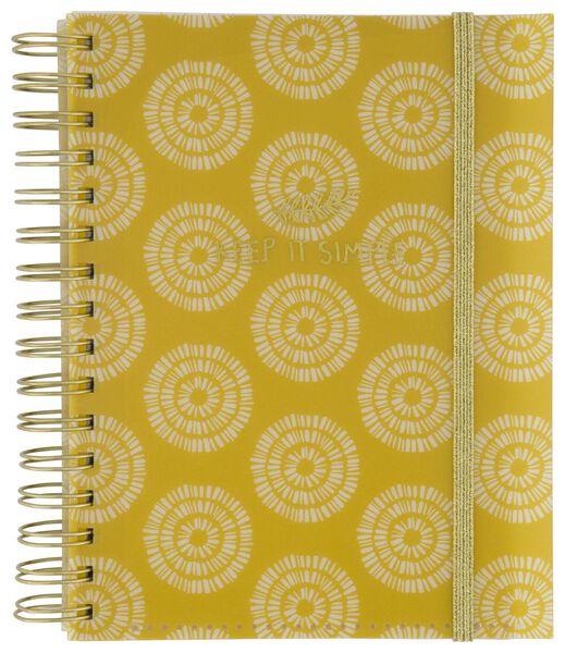 cahier à spirale 4-en-1 A5 à grands carreaux (Seyès) - 14590272 - HEMA