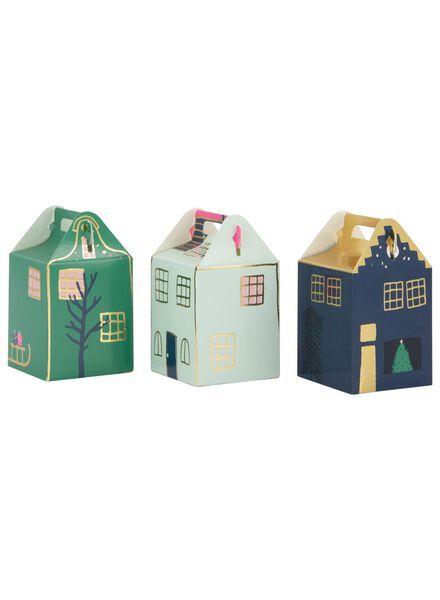12er-Pack Geschenkschachteln – Häuser - 60800779 - HEMA