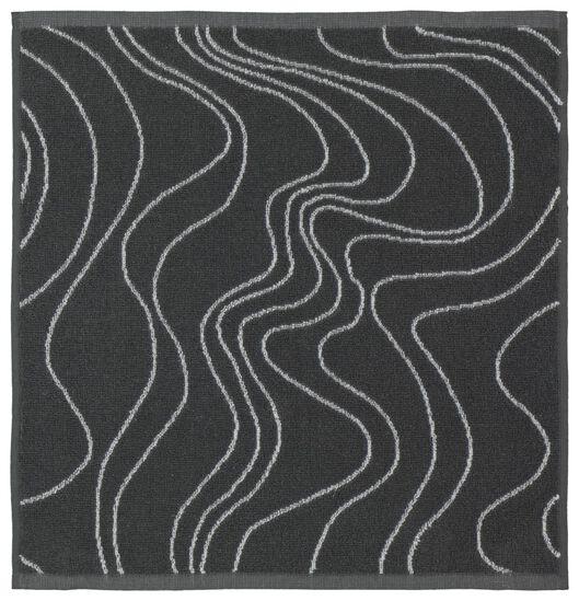 essuie-mains - 50 x 50 - coton - gris - vagues - 5490040 - HEMA