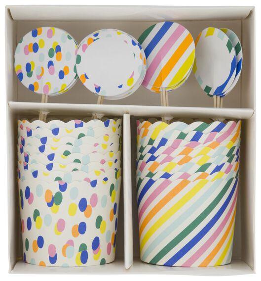 traktatie uitdeelset confetti - 16 stuks - 14200475 - HEMA