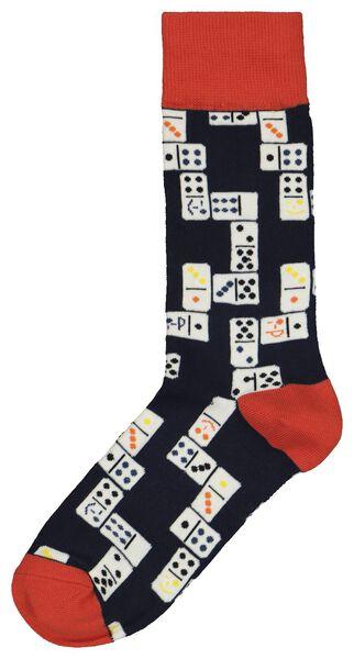Herren-Socken, Dominosteine blau blau - 1000022590 - HEMA