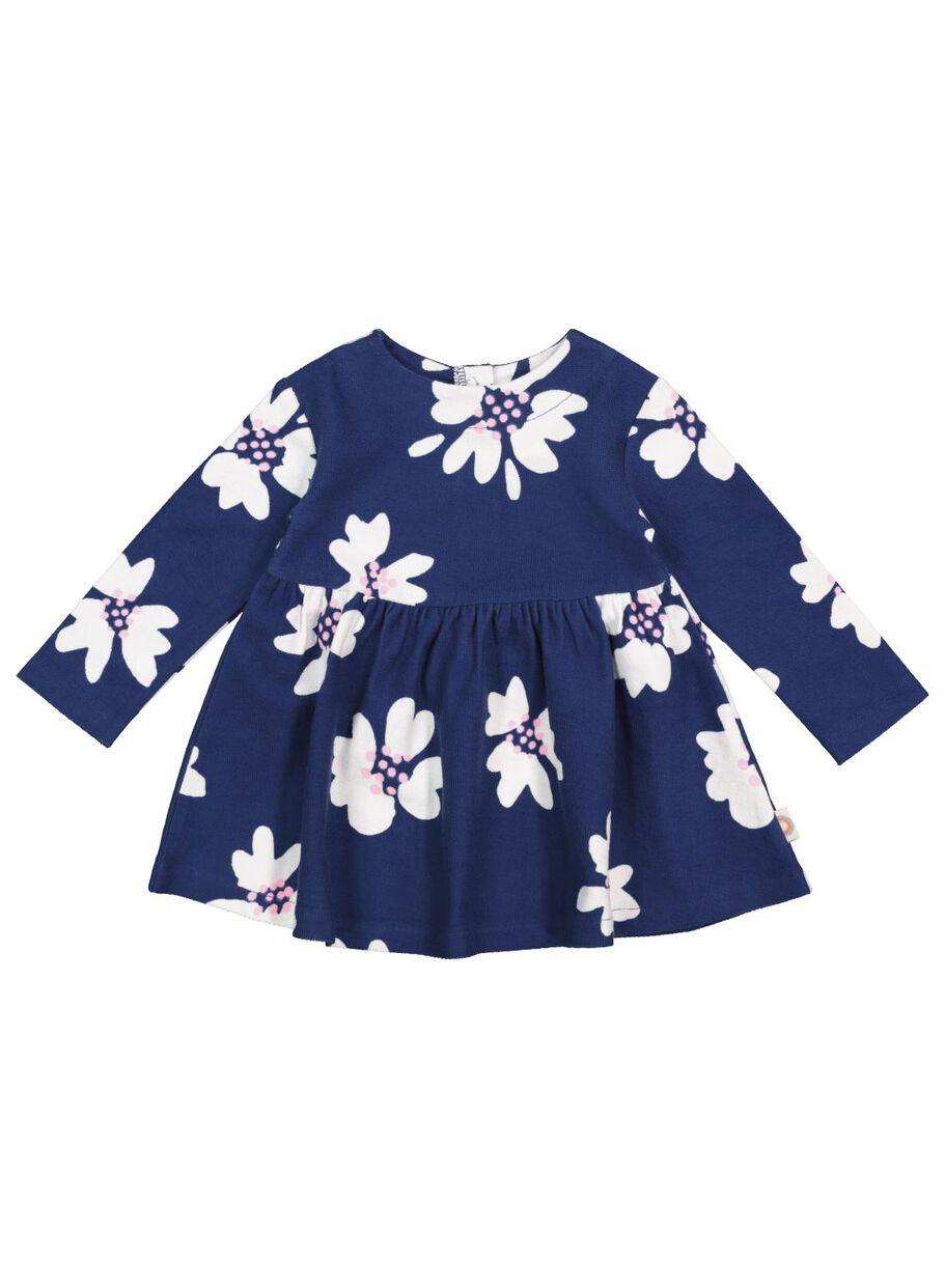 baby-kleid mit leggings dunkelblau - hema