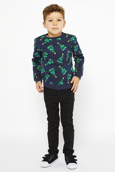 Kinder-Sweatshirt, Weihnachtsbäume dunkelblau dunkelblau - 1000021912 - HEMA