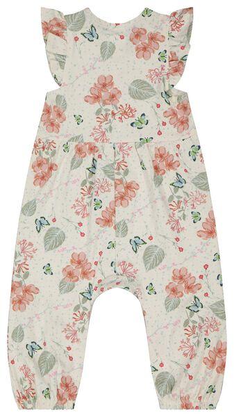 Baby-Jumpsuit, Blumen eierschalenfarben eierschalenfarben - 1000023551 - HEMA