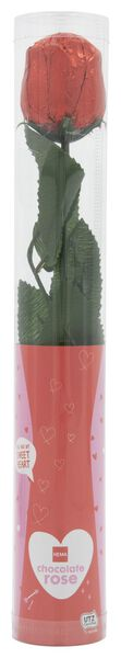 rose en chocolat au lait dans un étui - 18 g - 10050045 - HEMA