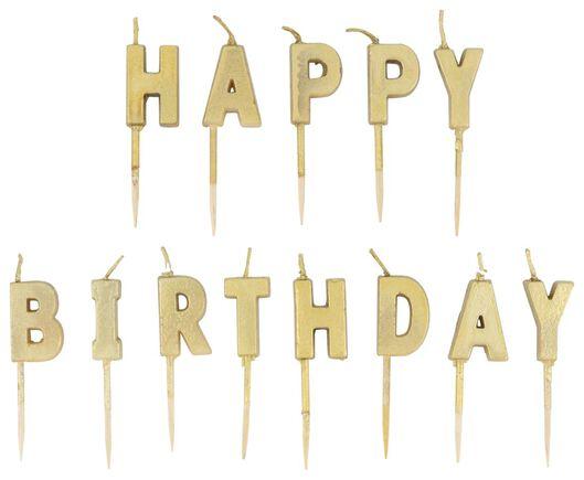 bougies d'anniversaire H-A-P-P-Y B I-R-T-H-D-A-Y - 14210170 - HEMA
