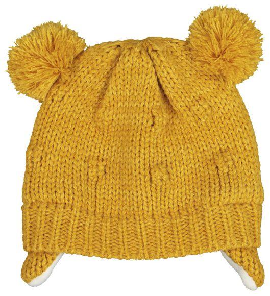 babymuts mosterdgeel mosterdgeel - 1000020146 - HEMA