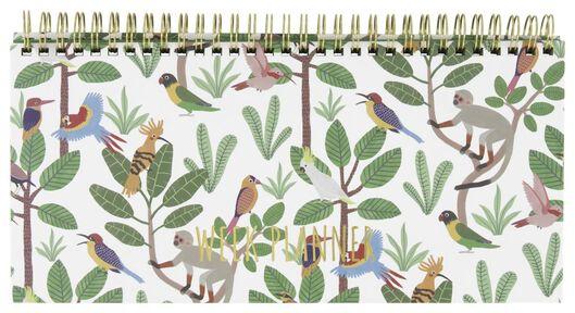 Tischkalender, Spiralbindung, 13 x 27 cm, Dschungel - 14500551 - HEMA