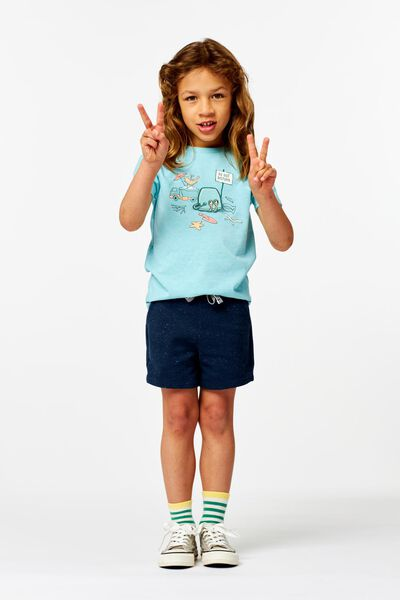 Kinder-Shorts dunkelblau dunkelblau - 1000023886 - HEMA
