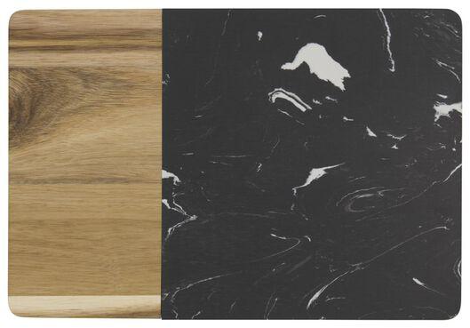 snijplank 20.8x30x1.5 marmer/hout - 41820411 - HEMA