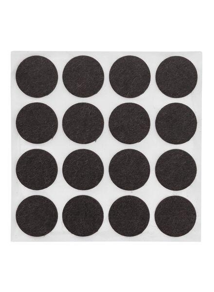 Image of HEMA 16-pack Self-adhesive Felt Gliders (brown)