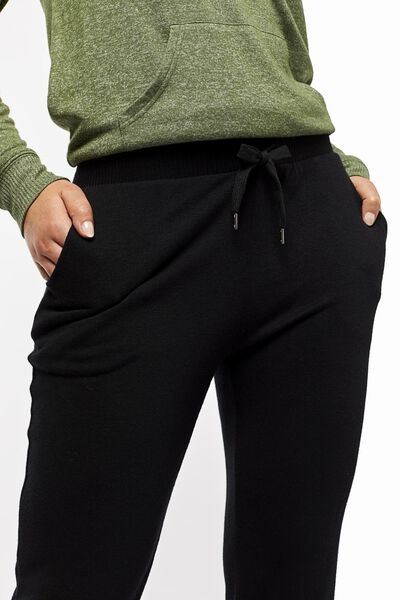 women's pyjama bottoms sweatshirt fabric black black - 1000022507 - hema