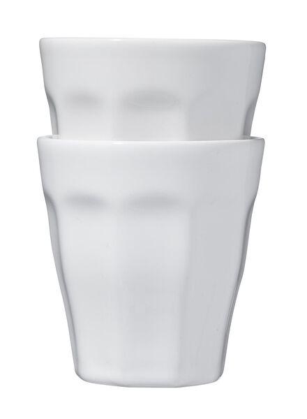 lot de 2 mugs 25 cl - blanc - 9612120 - HEMA