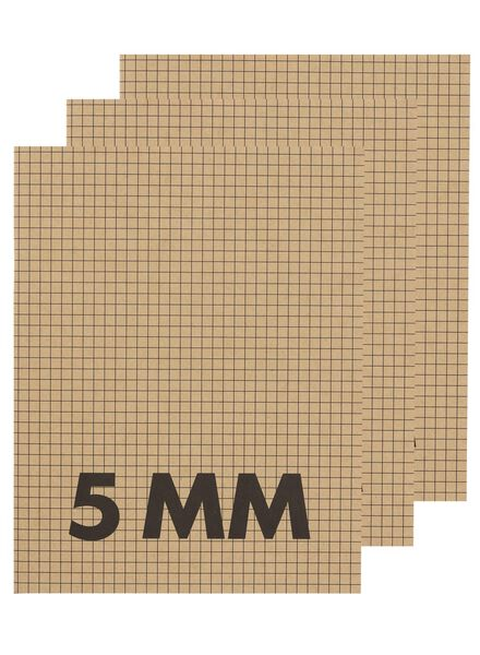 3-pack A5 exercise books squared 5 mm - 14170056 - hema