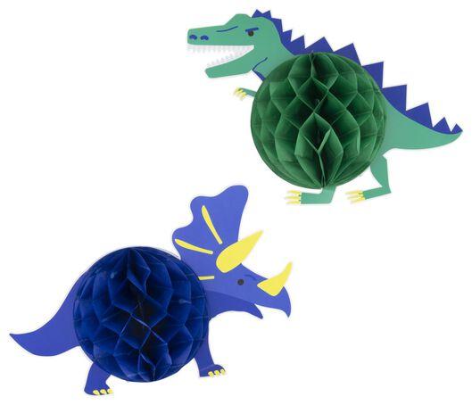 2er-Pack Papierwaben-Dinosaurier - 14200427 - HEMA