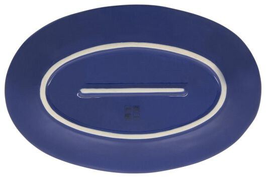 plat ovale 30 cm Porto émail réactif blanc/bleu - 9602259 - HEMA