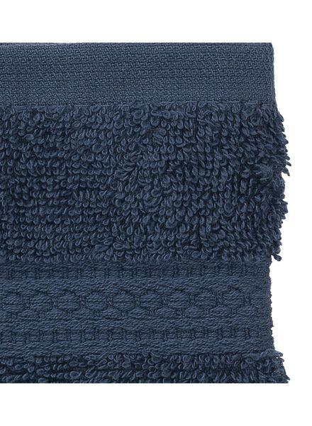 gant de toilette-qualité épaisse-denim uni - 5240178 - HEMA