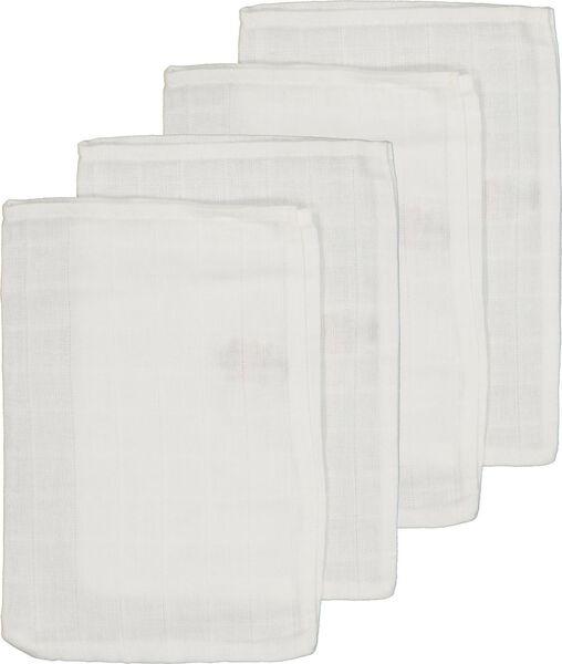 4-pack muslin wash mitts - 33346330 - hema