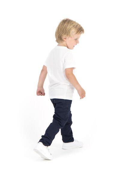 2er-Pack Kinder-T-Shirts, Biobaumwolle weiß weiß - 1000019381 - HEMA
