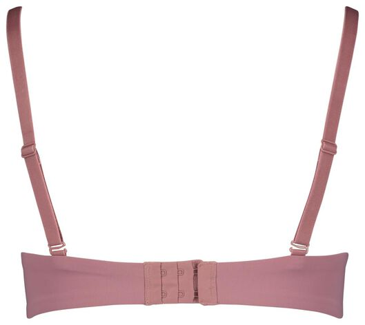 padded t-shirt bh zonder beugel micro roze roze - 1000018052 - HEMA