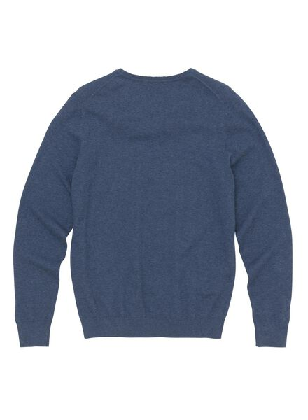men's sweater mid blue mid blue - 1000005857 - hema
