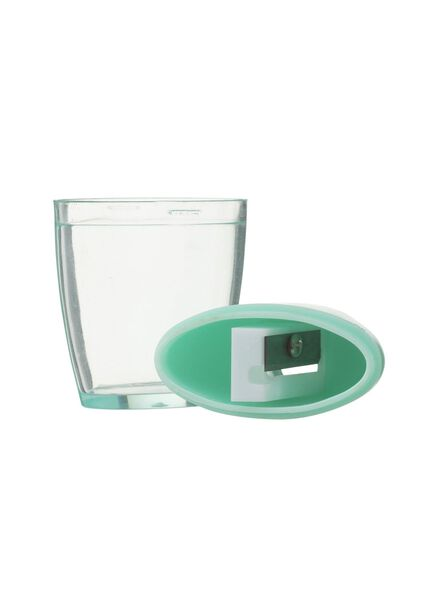 pencil sharpener with compartment for catching the shavings - mint green - 14522412 - hema