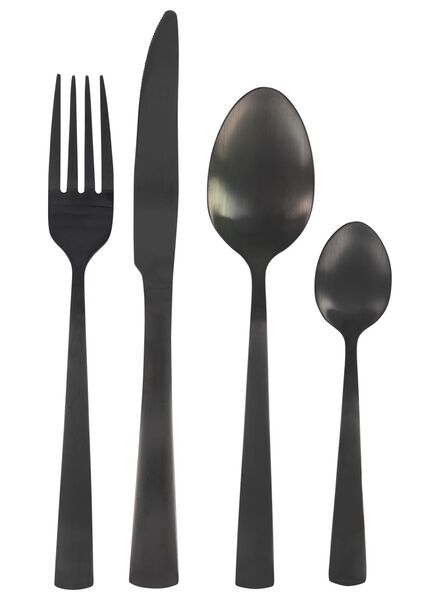16-piece cutlery set Copenhagen black - 9905063 - hema
