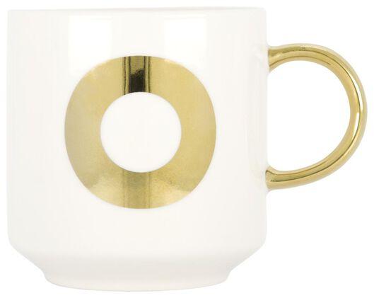 mug en faïence blanc/doré 350 ml - O - 61120110 - HEMA
