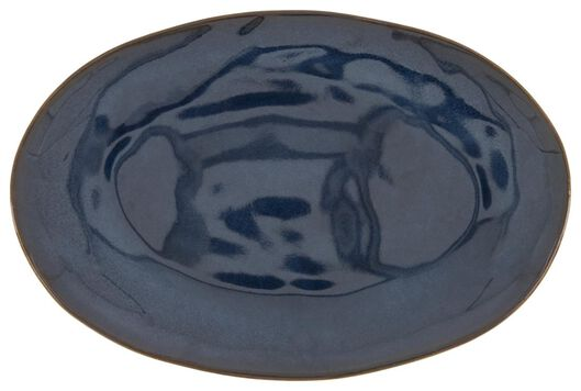 plat - 30 cm - Porto - émail réactif - bleu foncé - 9602224 - HEMA
