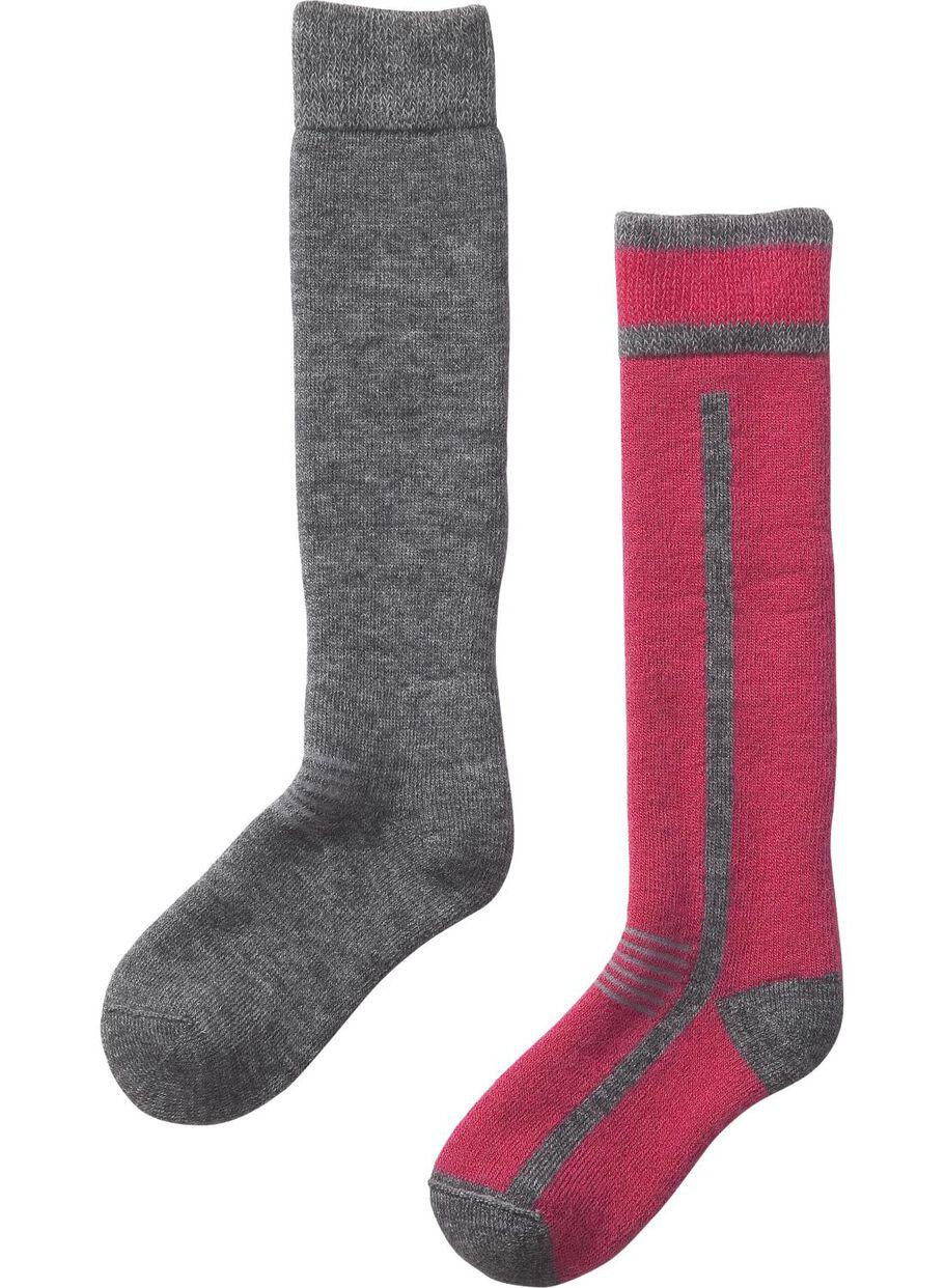 2bedf6d4e7b7 images lot de 2 paires de chaussettes de ski rouge rouge - 1000001330 - HEMA
