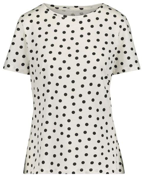 women's T-shirt black/white black/white - 1000019256 - hema