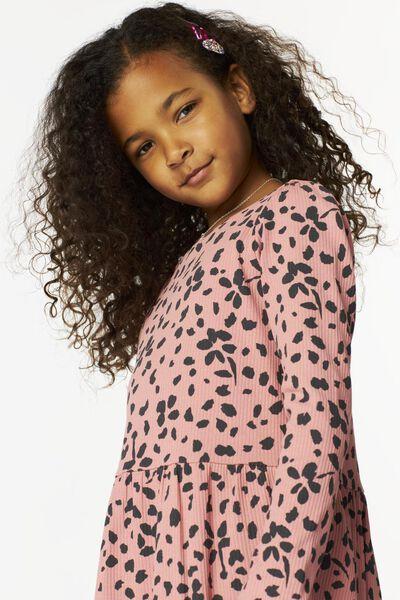 Kinder-Kleid, gerippt rosa rosa - 1000024919 - HEMA