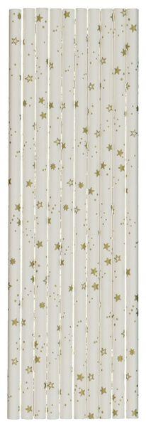 10 pailles en papier 20 cm étoiles - 25600147 - HEMA
