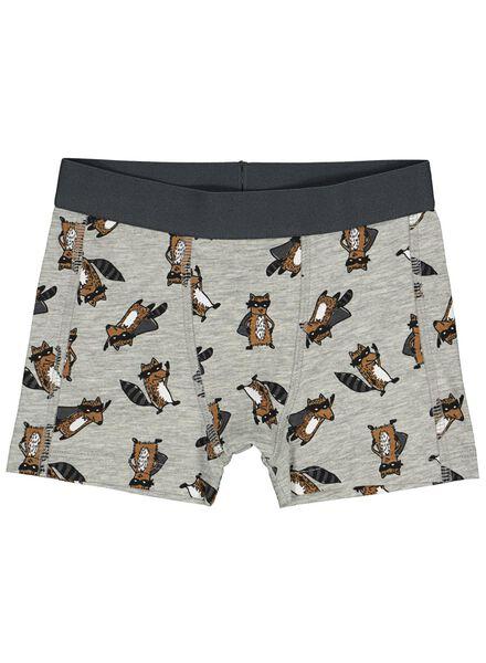 2-pack children's boxers grey melange grey melange - 1000014657 - hema
