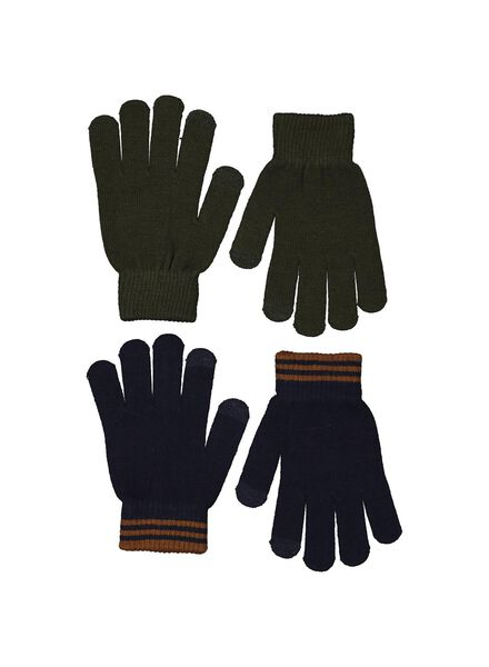 2er-Pack Kinder-Handschuhe, Touchscreen grün grün - 1000014550 - HEMA