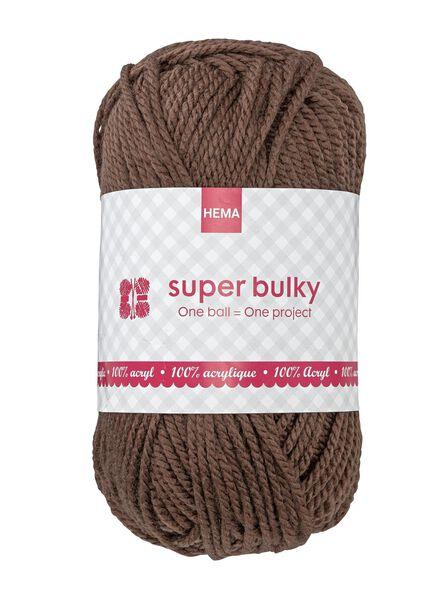 Strickgarn Super Bulky - braun - 1400073 - HEMA
