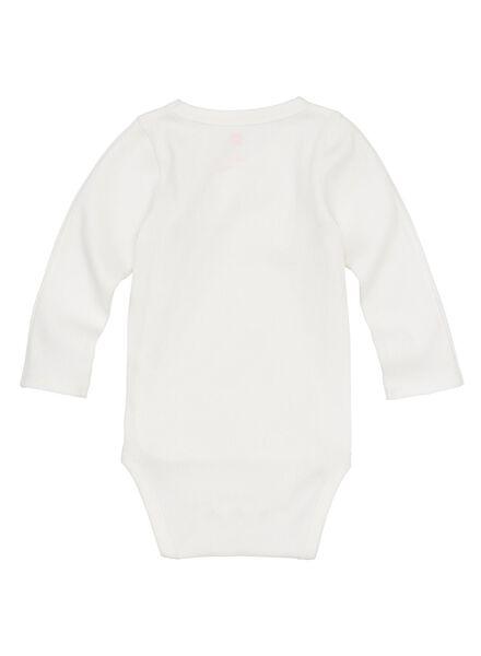 body croisé bambou stretch pour nouveau-né-prématuré blanc blanc - 1000013399 - HEMA