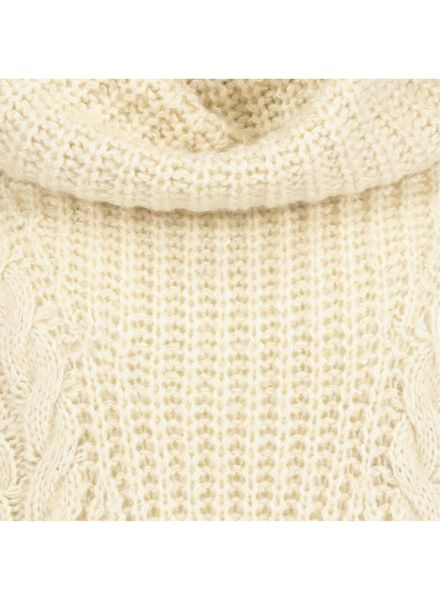 women's sweater knitted with cables cream cream - 1000017410 - hema