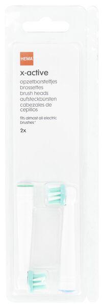 2 têtes de brosse à dents X-active - 11133358 - HEMA