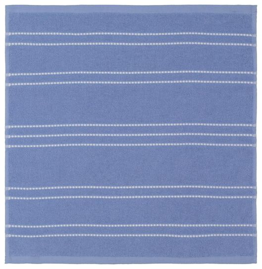essuie-mains - 50 x 50 - coton - rayure bleue - 5490029 - HEMA
