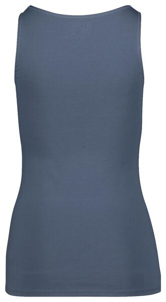 women's singlet real lasting cotton® blue blue - 1000018551 - hema