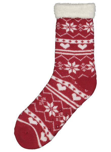 chaussettes d'intérieur femme rouge rouge - 1000016547 - HEMA