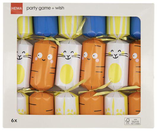6er-Pack Partyüberraschungen mit Spiel - 25810110 - HEMA