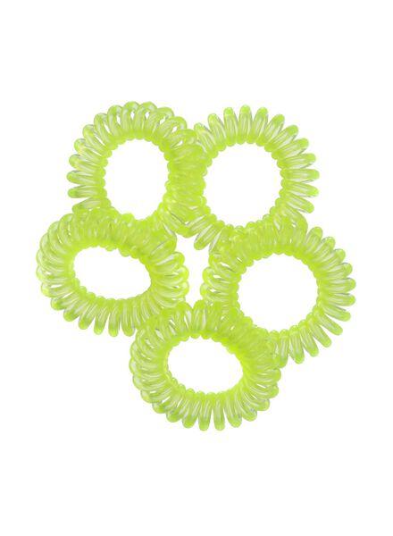 lot de 5 élastiques spirales - 11873041 - HEMA