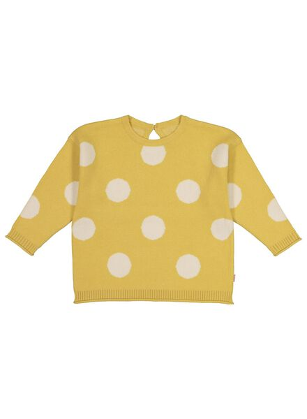 knitted baby sweater with dots yellow yellow - 1000017505 - hema