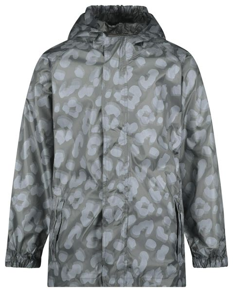 Kinder-Regenjacke, faltbar, Leopardenmuster grau 98/104 - 18471801 - HEMA