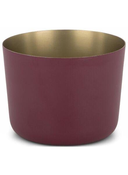 tea light holder - Ø 9.5 cm - dark red - 13392107 - hema