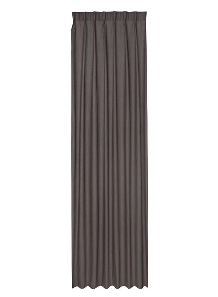 ready-to-use curtain with pleat tape anthracite - 7632123 - hema
