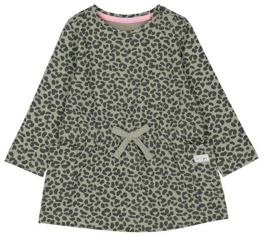 Babykleiderroecke - HEMA Baby Kleid, Tierfleckenmuster Grün - Onlineshop HEMA